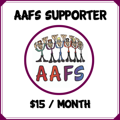 click here to become an AAFS Supporter